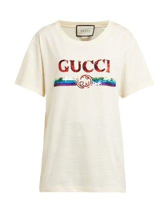 white gucci shirt