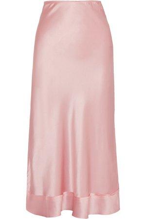 Lee Mathews | Stella silk-satin midi skirt | NET-A-PORTER.COM