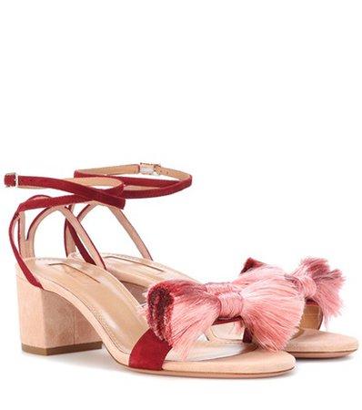 Lotus Blossom 50 suede sandals