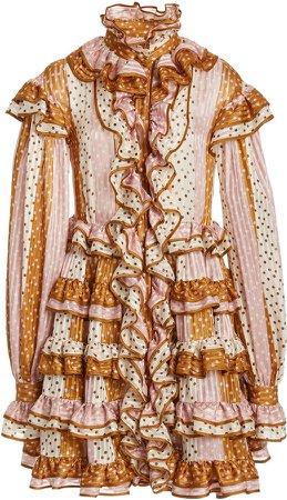 Zimmermann Lucky Ruffled Mini Dress