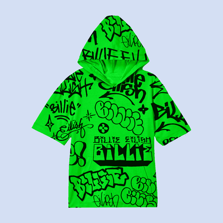Billie Eilish Green T Shirt