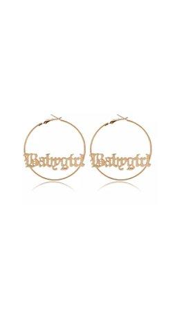 babygirl hoop earrings