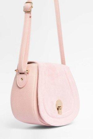 Shoulder bag in leather look