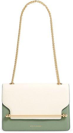 East/West Colorblock Leather Shoulder Bag