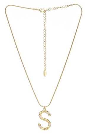 Ettika Twisted Initial Pendant Necklace | Nordstrom