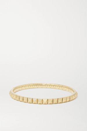 Gold Spike 14-karat gold bracelet   Jacquie Aiche   NET-A-PORTER