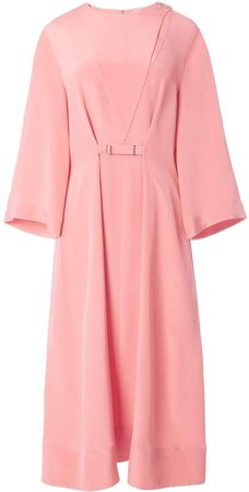 Silk Cropped Sleeve Dress