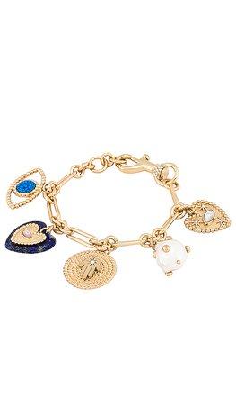 Rebecca Minkoff Evil Eye Charm Bracelet in Gold | REVOLVE