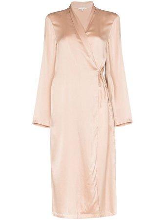 Skin Thea Silk Dressing Gown - Farfetch
