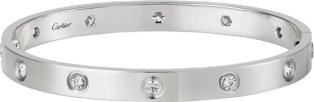 CRB6040717 - LOVE bracelet, 10 diamonds - White gold, diamonds - Cartier