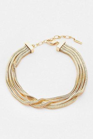 Gold Plated Slinky Necklace | Karen Millen