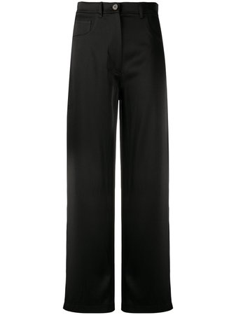 Shop black Nanushka wide-leg trousers with Express Delivery - Farfetch