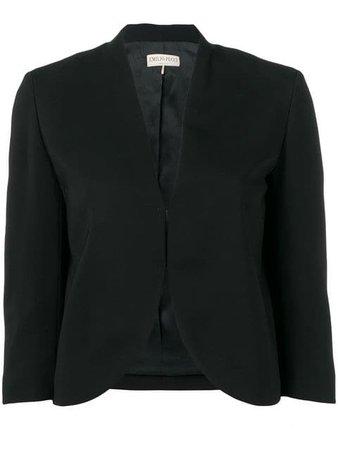 Emilio Pucci Black Cropped Blazer - Farfetch