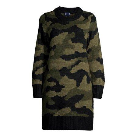 Scoop - Scoop Women's Camo Sweater Dress - Walmart.com - Walmart.com
