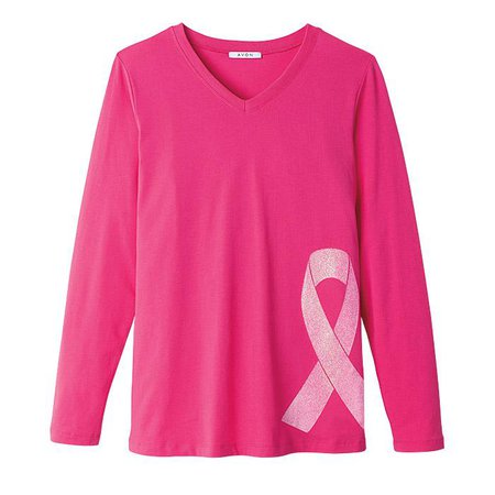 Pink Hope Glitter T-Shirt - Top Quality Fashion by AVON