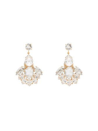 Anton Heunis Crystal Cascade Drop Earrings - Farfetch