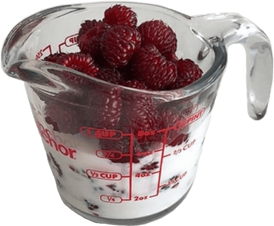 berries food filler red white cream milk aesthetic nich...