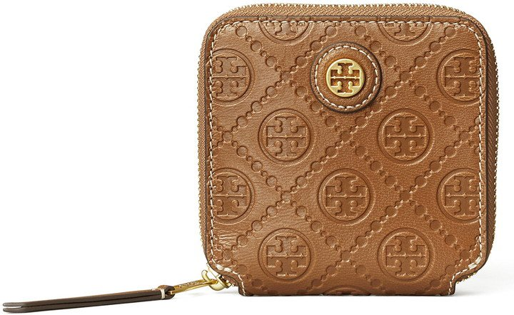 T Monogram Leather Wallet