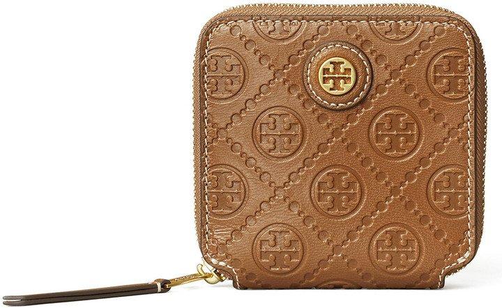 T Monogram Leather Wallet