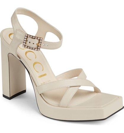 Gucci Costanze Platform Sandal (Women) | Nordstrom