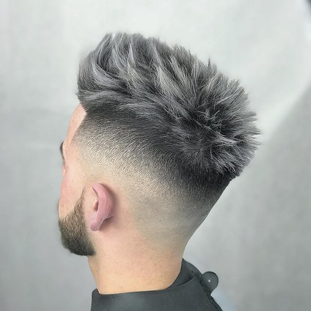 Men's black and gray haircut