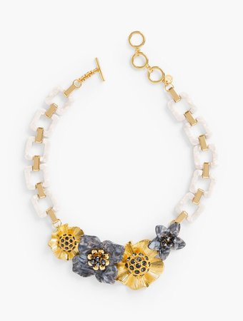 Flowers Statement Necklace | Talbots
