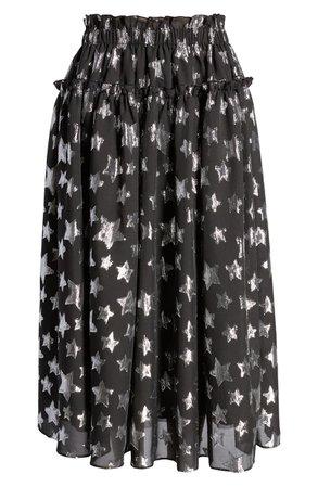 Halogen® x Atlantic-Pacific Star Chiffon Midi Skirt (Nordstrom Exclusive)   Nordstrom
