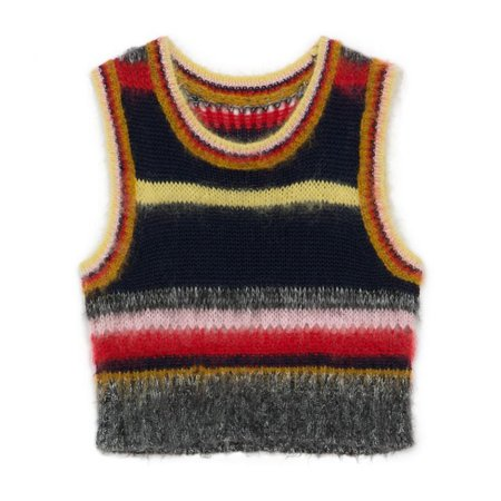 Alexa Chung Stripy Mohair Vest ($370) | Selena Gomez Wears Alexa Chung Rainbow Top | POPSUGAR Fashion Photo 5