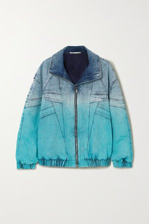 Ombre Denim Jacket - Blue
