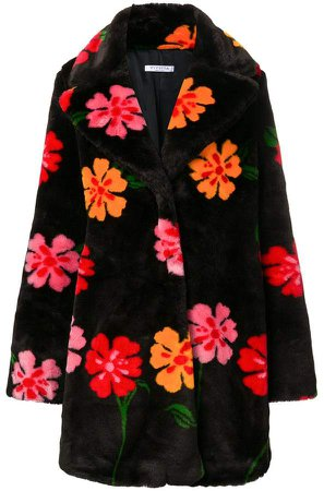 Vivetta flower faux fur coat