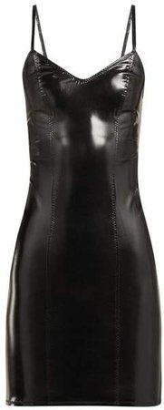 Tank Pvc Mini Dress - Womens - Black