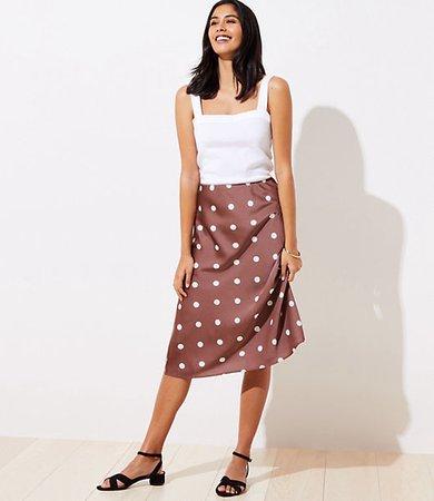 Petite Polka Dot Midi Skirt