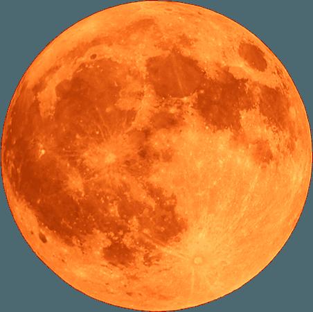 Ixchel Symbol - Orange Moon