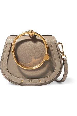 Chloé | Nile Bracelet kleine Schultertasche aus strukturiertem Leder und Veloursleder | NET-A-PORTER.COM
