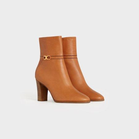 Claude Ankle boot in Calfskin Black|Brown|Beige | CELINE