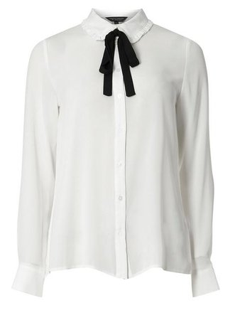 white blouse black bow retro