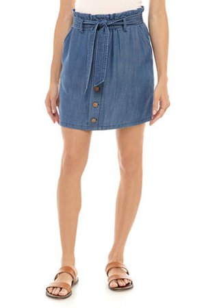 Jolt Junior's Button Front Skirt