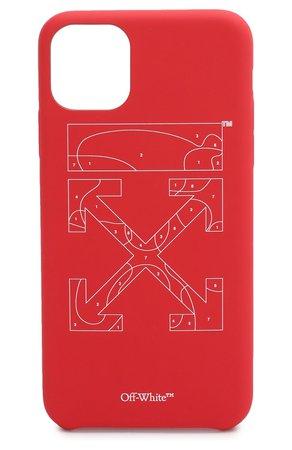 Чехол для iPhone 11 Pro Max OFF-WHITE — купить за 5640 руб. в интернет-магазине ЦУМ, арт. 0WPA013S20PLA0012501