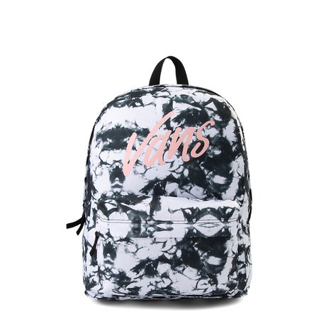 Vans Realm Cloud Wash Backpack - Black / White | Journeys