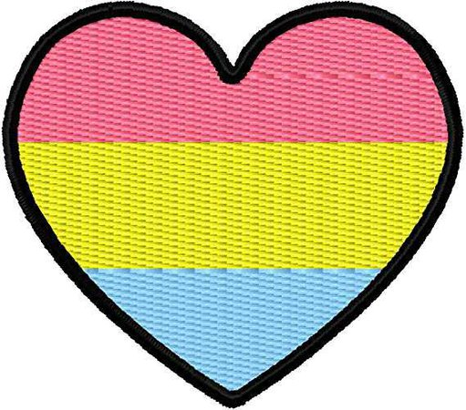 "Amazon.com: Pansexual Pan Pride Flag Heart Iron On Applique Patch - Hot Pink, Yellow, Light Blue, Black - 2.25"" x 2"" Heart - MADE IN THE USA - Gift wrap available!: Arts, Crafts & Sewing"