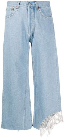 Forte Dei Marmi Couture Crystal-Embellished Cropped Jeans