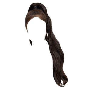 black hair png ponytail jennie