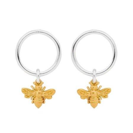 GOLD QUEEN BEE EARRINGS  by Leoni & Vonk