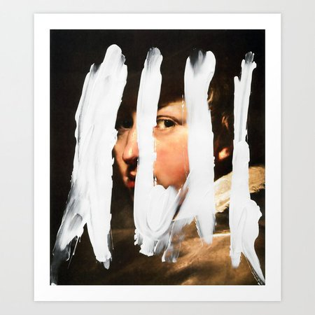 Untitled (Finger Paint 2) Art Print by chadwys | Society6