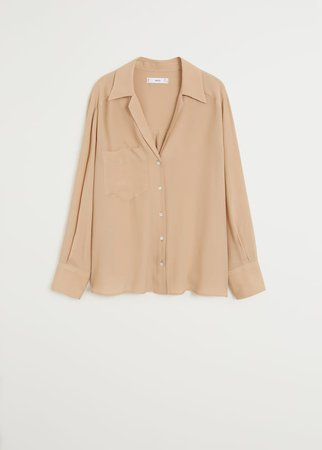 Pocket flowy shirt - Women | Mango USA