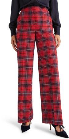 Inverness Tartan Wide Leg Pants