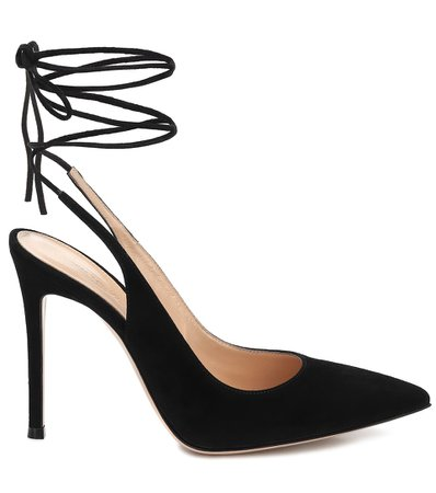 Gianvito Rossi - Suede slingback pumps | Mytheresa