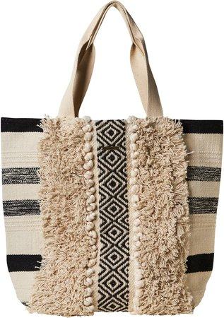 Jacquard Accent Tote Bag