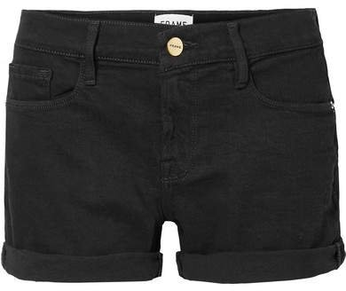 Le Cutoff Denim Shorts - Black