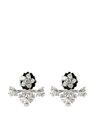 Yeprem 18kt white gold diamond earrings - FARFETCH